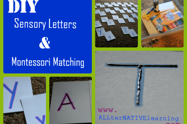 Sensory Letters Busy Bag Ideas