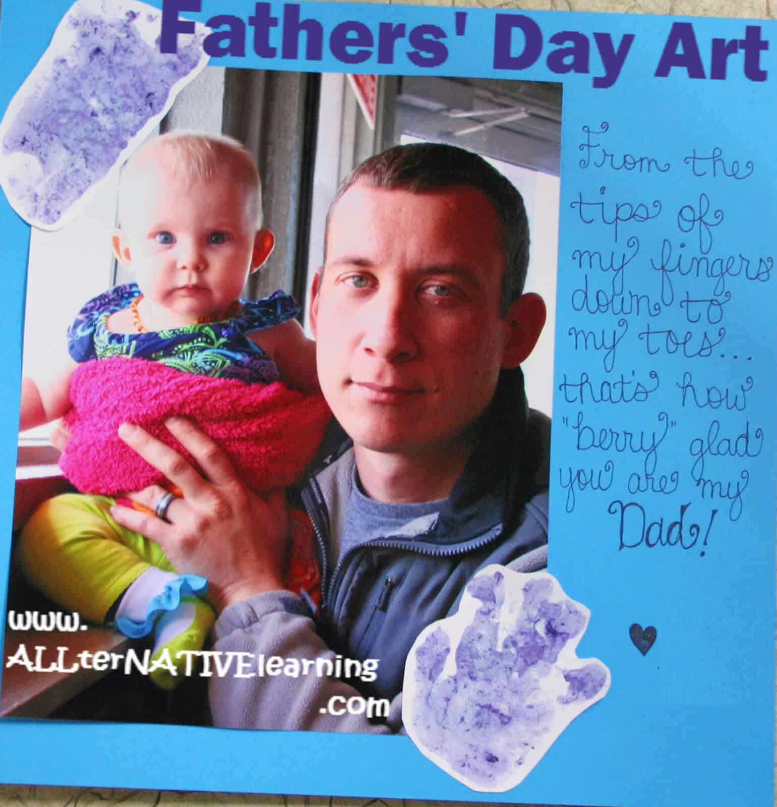 Father's Day Painting Craft for Kids