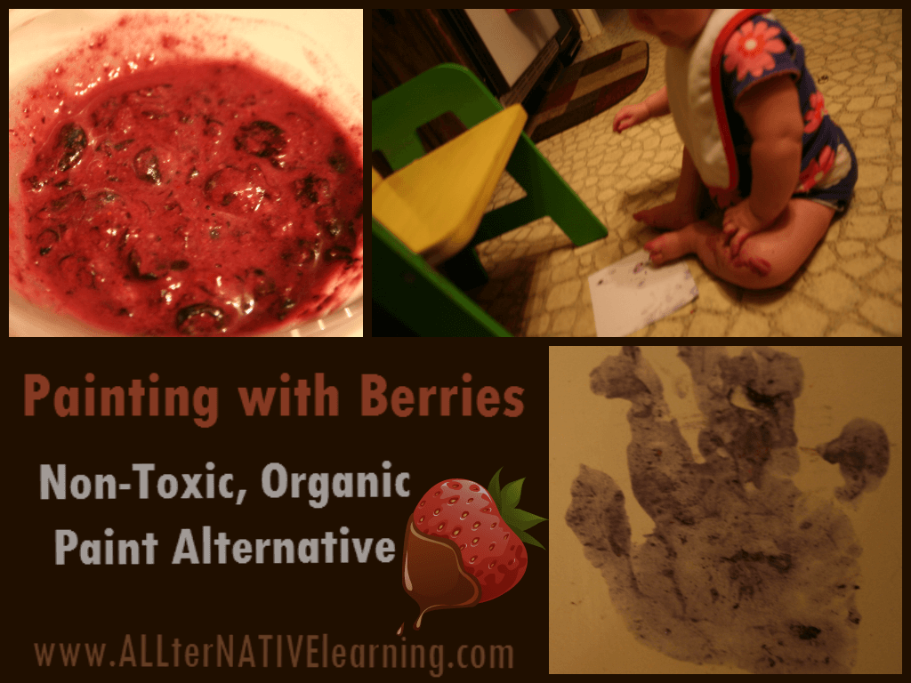 DIY Non-Toxic Paint made from berries