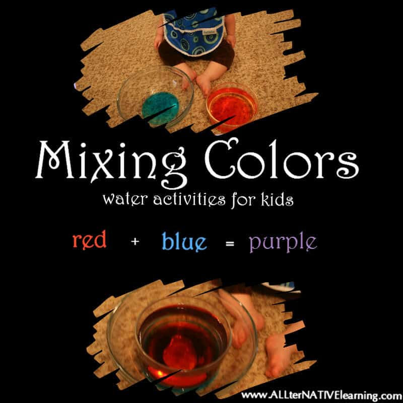 Water Learning for Kids and Babies – Exploring Temperature & Color