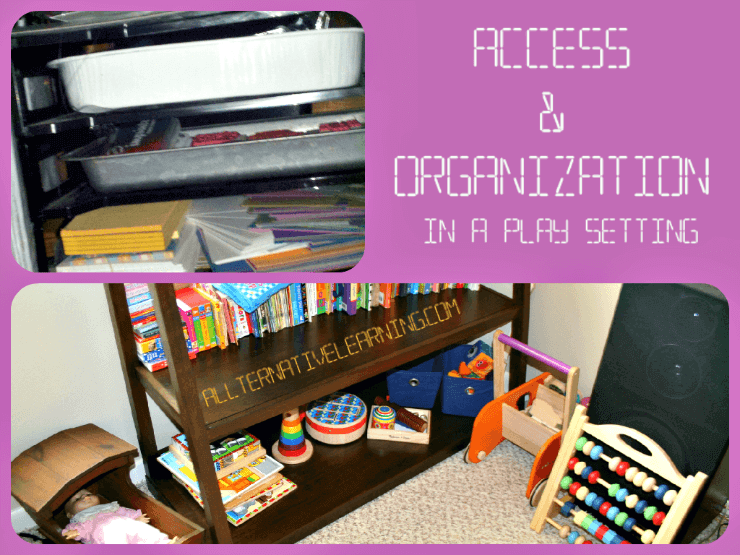 Organizing Homeschool shelves