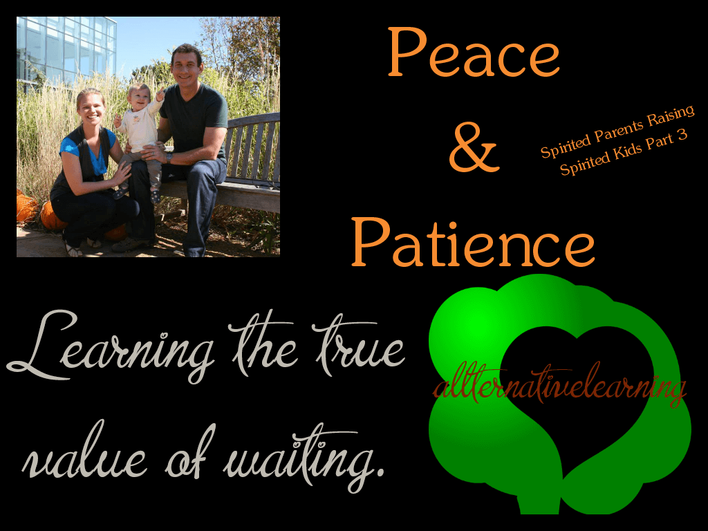 Parenting patience and peace