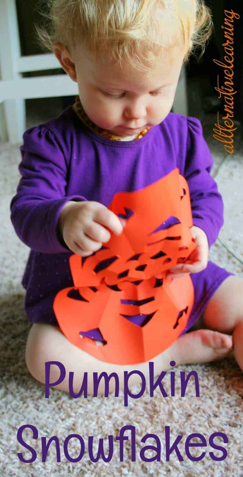 Pumpkin craft snowflake tutorial