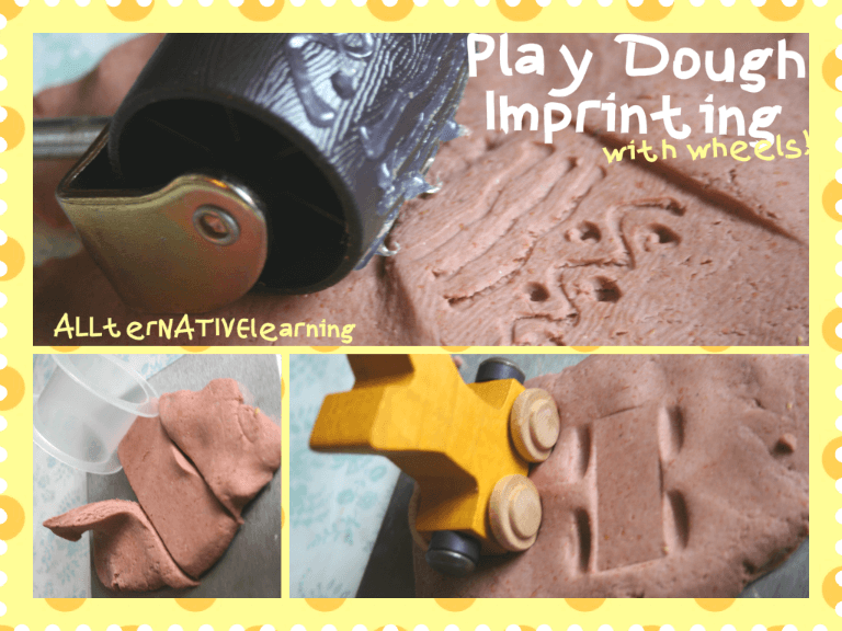 Imprint on Play doh with wheels