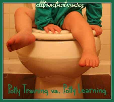 The difference between potty training and potty learning