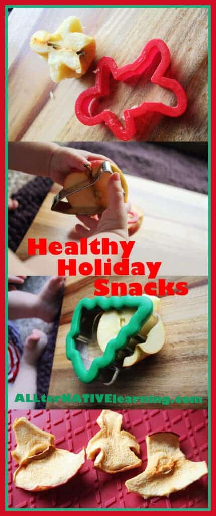 Using cookie cutters on fruit to dehydrate.