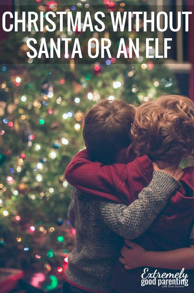 How to celebrate #Christmas without #santa or #elfonashelf and why.