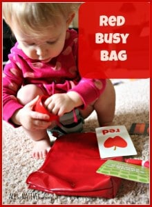 red theme busy bag for kds