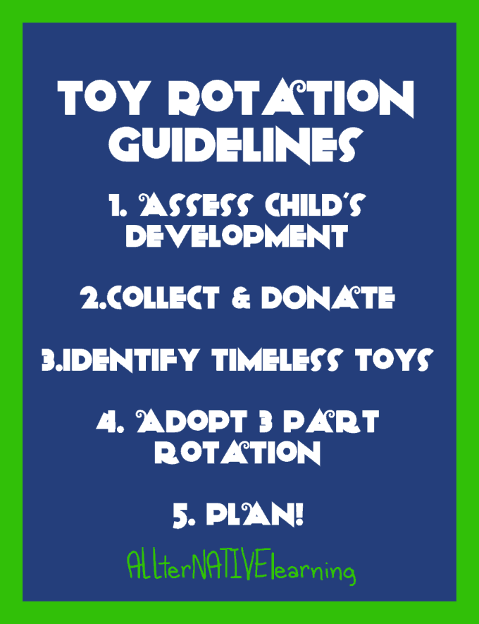 ideas on toy rotation to keep kids interested