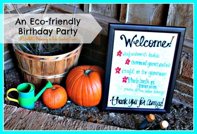 An eco-friendly birthday party