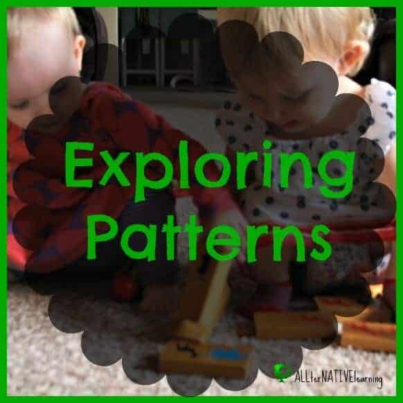teach patterns to toddlers and preschoolers