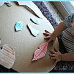 facial features cardboard puzzle