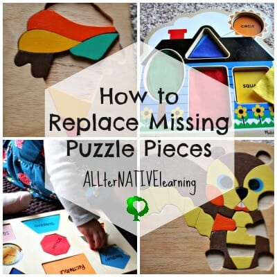 how to replace missing puzzle pieces