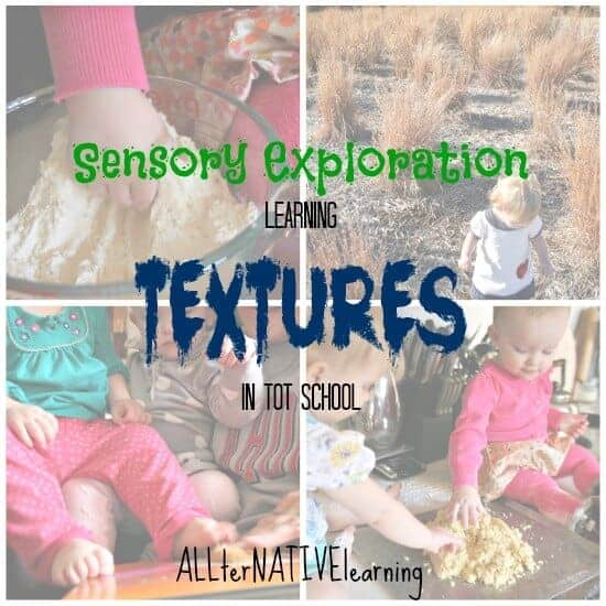 sensory exploration learning textures in tot school