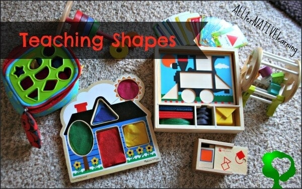 teaching shapes in tot school