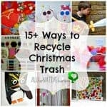 how to recycle christmas trash and decor