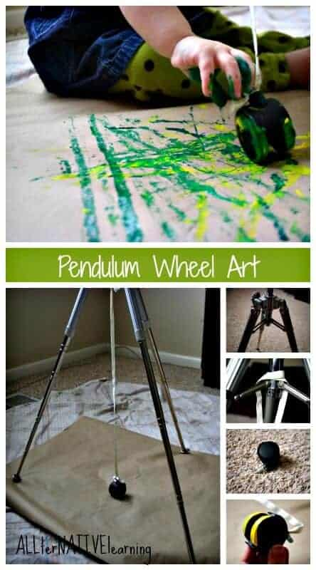 Setting up pendulum art