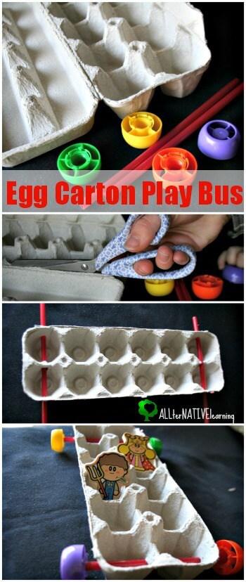 Egg Carton Play Bus Tutorial