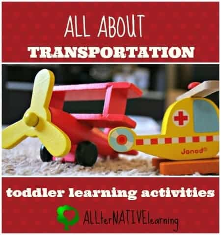 transportation toddler learning activities