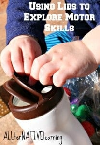 Use a shaker lid to practice fine motor skills