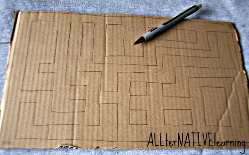 Planning to Draw your DIY Maze Game by drawing it first
