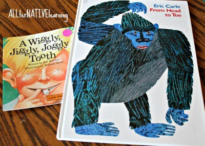 Face and Body Books for Toddlers Learning Body Parts