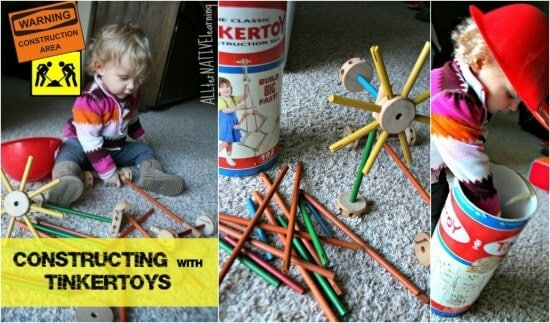 Open-Ended Play using tinkertoys