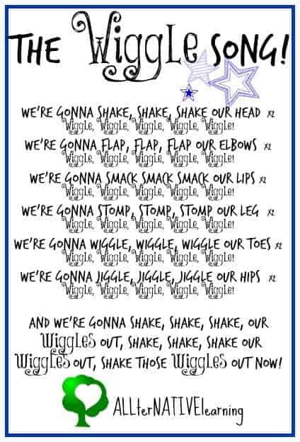 The Wiggle Song Printable