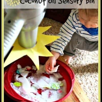 Spring Thaw Coconot Oil Sensory Bin