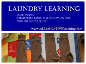 Laundry Learning for Toddlers and Pre-schoolers