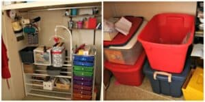 craft closet and storage