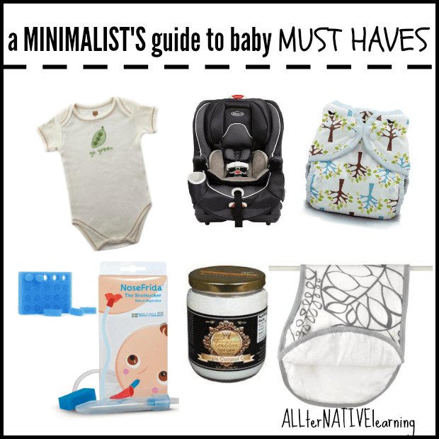 Minimalist's Guide to Baby Basics {birth to 18 months} ALLterNATIVElearning.com