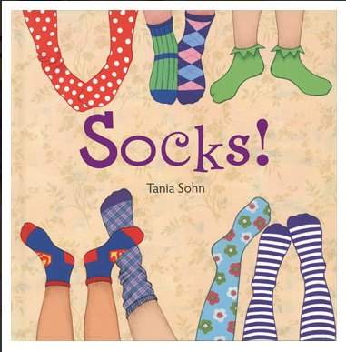 Socks book for children's learning theme