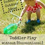 25 Activities for Toddlers at Home without Using Toys | ALLterNATIVElearning | Great for caregivers, grandparents, and anyone looking for free, unique ideas.