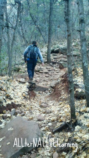 Hiking in the Red Rock Secret Mountain Wilderness in Sedona, AZ