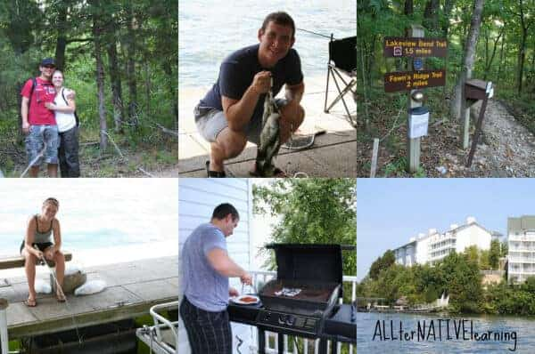 Enjoying the eco-travel accommodations at the Lake of the Ozarks Wyndham