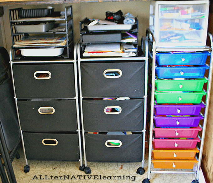 Storage Clost for bigger toys and busy bags | ALLterNATIVElearning