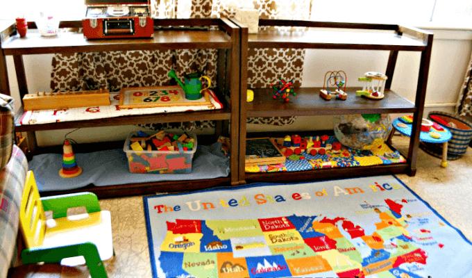 Montessori Shelves for Tot School | ALLterNATIVElearning