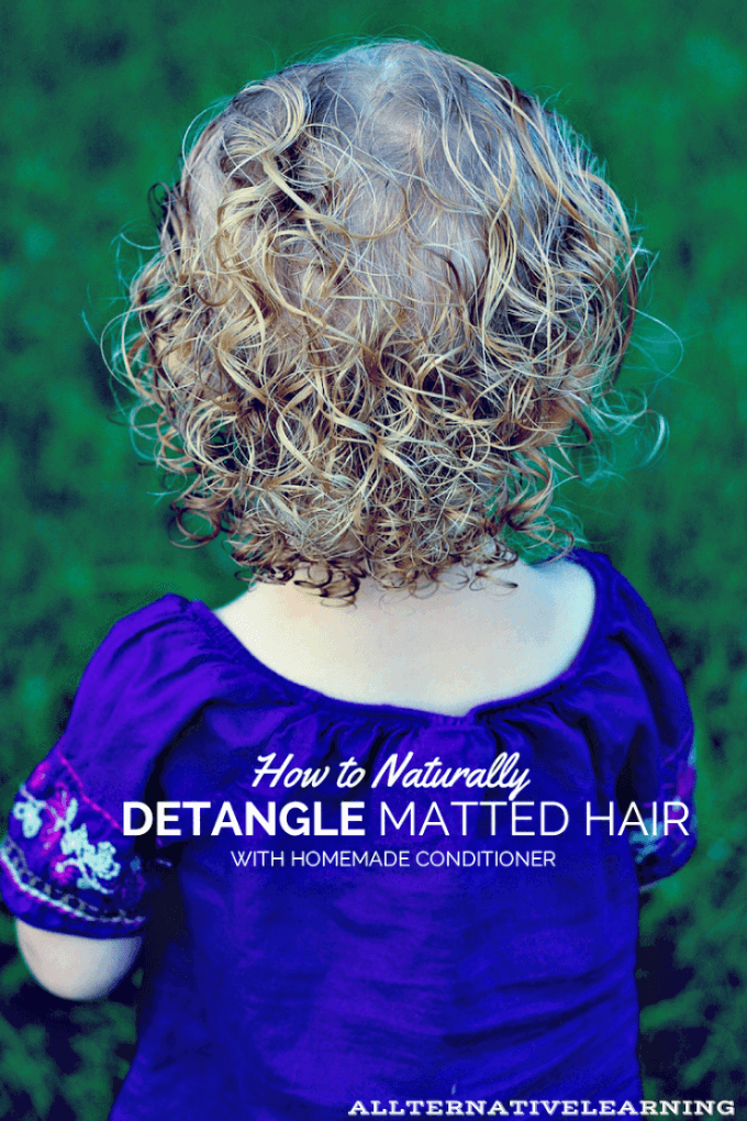 Detangling kids hair naturally and easily