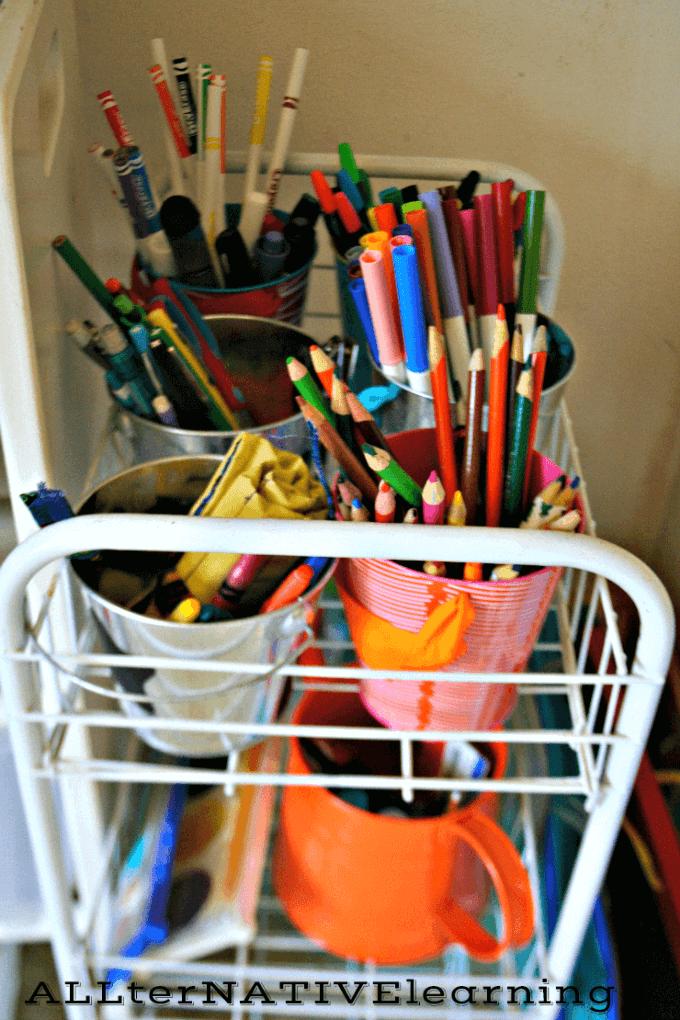 Tot School Art Cart | ALLterNATIVElearning