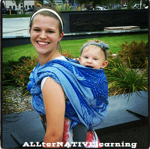 Babywearing a Toddler in a Wrap