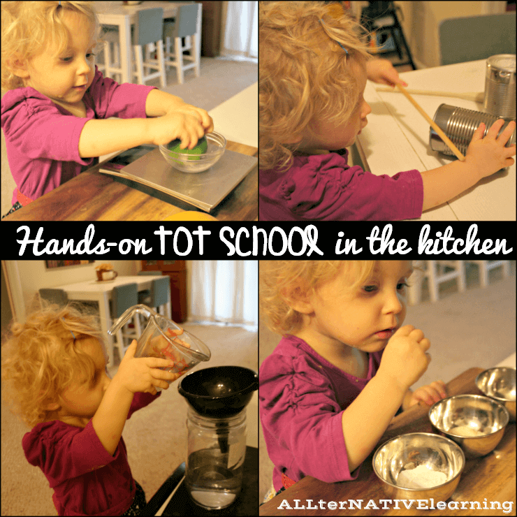 Ideas for hands on play kitchen, food, and taste tot school theme | ALLterNATIVElearning
