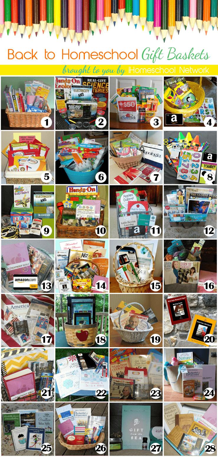 Back to Homeschool Gift Basket Giveaways