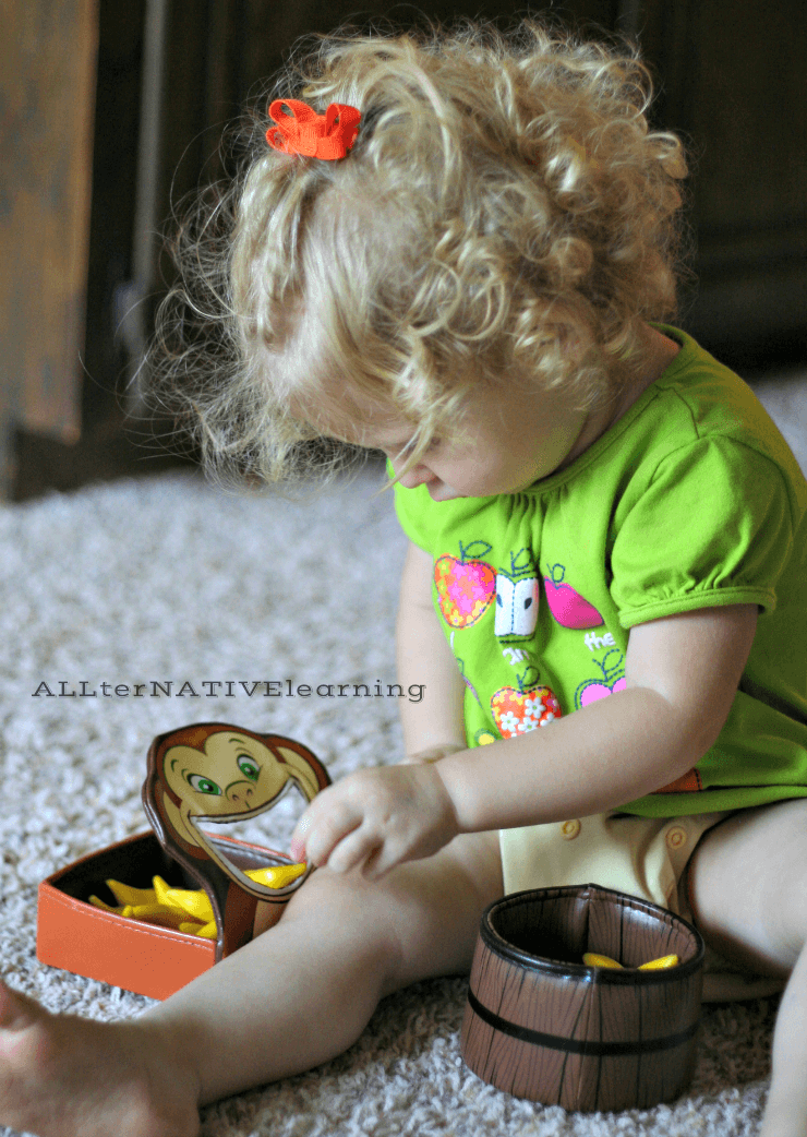 Hungry Monkey Fine Motor and Counting Game