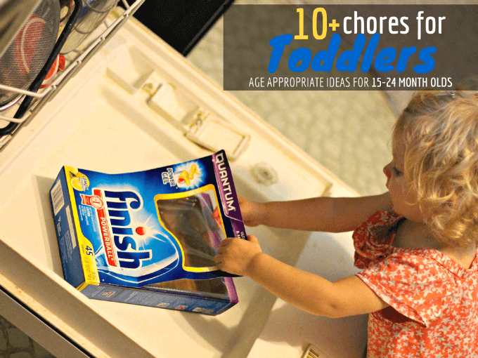 How toddlers can help around the house by loading and unloading the dishwasher | ALLterNATIVElearning #shop #cbias
