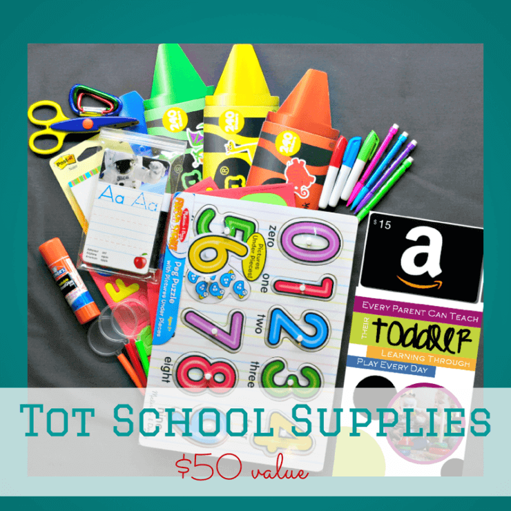 Tot School Supplies back to school gift basket | ALLterNATIVElearning.com