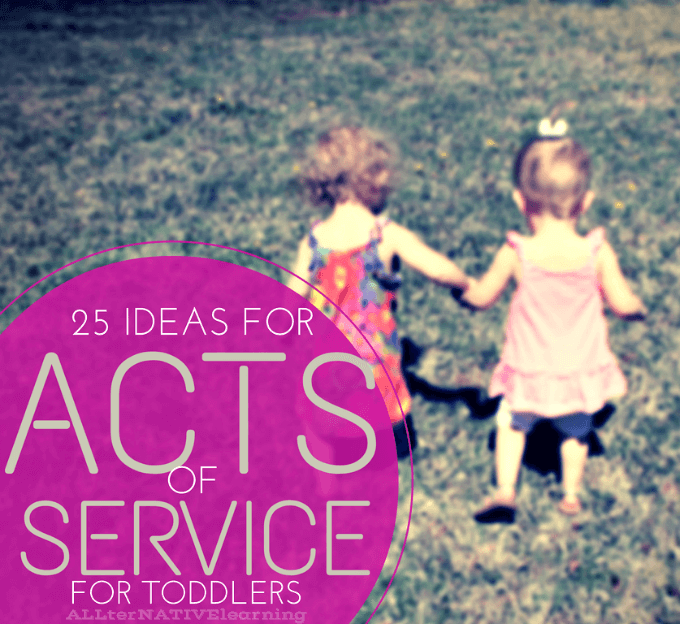 25 ways to include toddlers in acts of service to others as part of teaching diversity and empathy   ALLterNATIVElearning.com