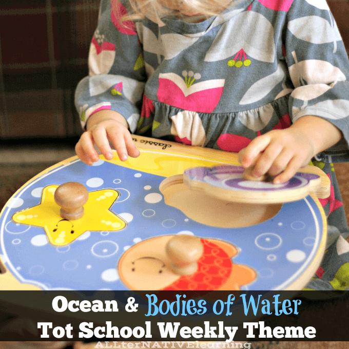 Ocean and Bodies of Water tot School Theme | ALLterNATIVElearning