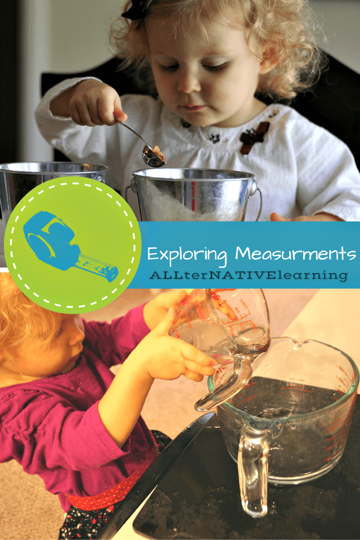 Early math activities for toddlers and preschoolers - Exploring Types of Measurements | ALLterNATIVElearning