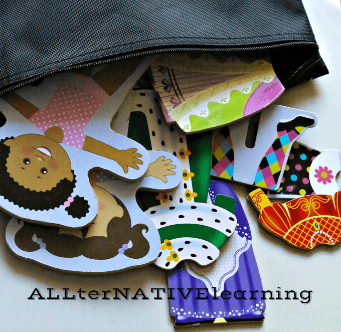 Magnetic dress up dolls busy bag